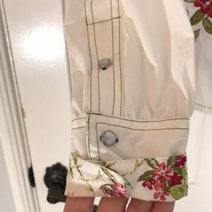 Johnny Was Tops - Johnny Was 3J Embroidered floral button down shirt